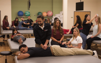 Physical Therapy students practicing clinical